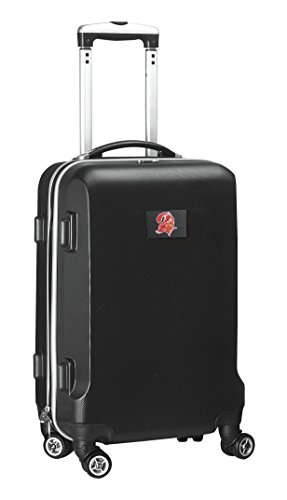 NFL Tampa Bay Buccaneers Hardcase Domestic Carry-On Spinner Bag, Black, 20-Inch by Denco