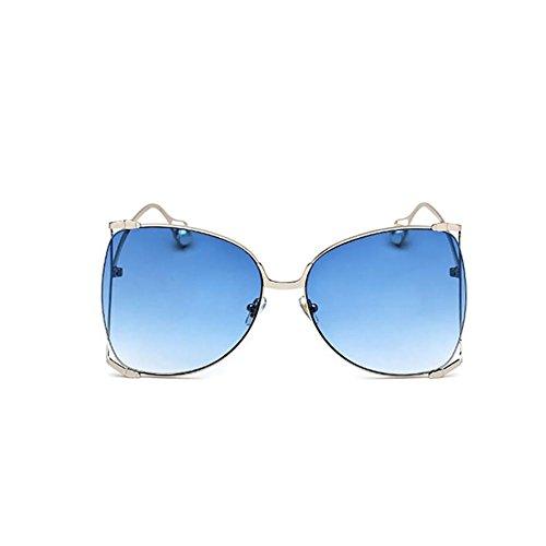 Moda Ghtweight Blue Gafas De Grande Gafas Gafas Mujer para Pink Marco Sol De Perlas GAOJUAN X6dqwX