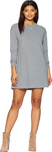 Long Sleeve Womens Organic Hemp - United By Blue Women's Leidy Fleece Dress Steel Grey Medium