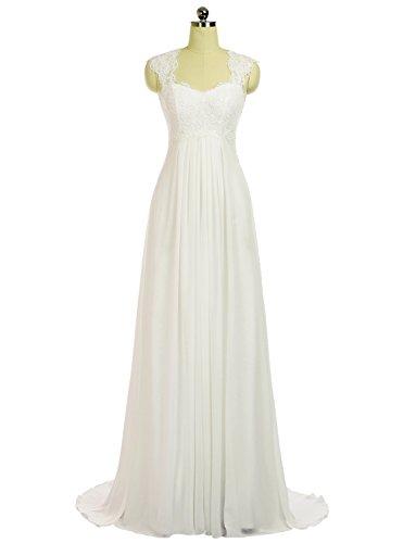 Appliques Erosebridal Beach Dresses Bridal Wedding Maxi Chiffon Ivory Gowns Dress Lace Women's a8r7awx