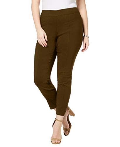 Style&Co Plus Size Skinny Seamed Pull-On Pants (Rich Truffle, 18W)