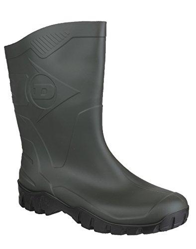 Hombre botas de agua Dunlop media altura verde tamaño 7UK