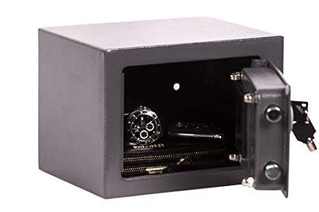 Brihard Junior Caja Fuerte Electrónica, 17x23x17cm (HxWxD), Gris Titanio: Amazon.es: Industria, empresas y ciencia