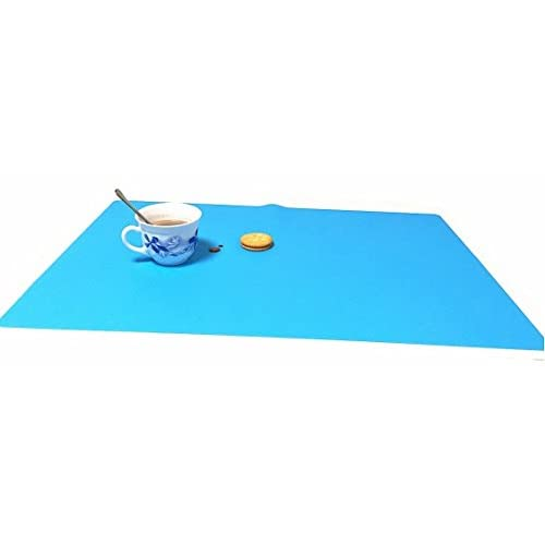 EPHome 2Pack Extra Large Multipurpose Silicone Nonstick Baking Mat, Pastry Mat, Heat Resistant Nonskid Table Mat, Countertop Protector, 23.6''15.75'' (Blue)
