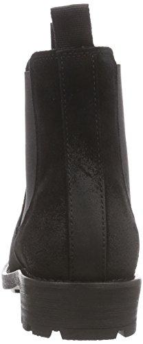 Sofie Schnoor Low boot with fur - zapatillas de ciclista de cuero mujer negro - negro