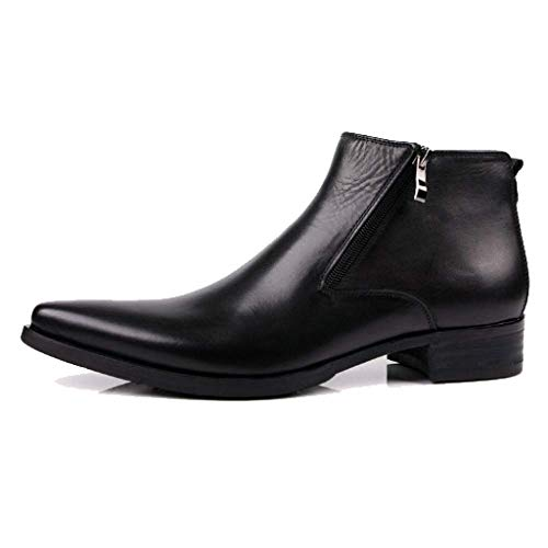Scarpe Britanniche Pointed Fashion Business Scarpe Alte Versione Europea Cowboy Martin Boots Black