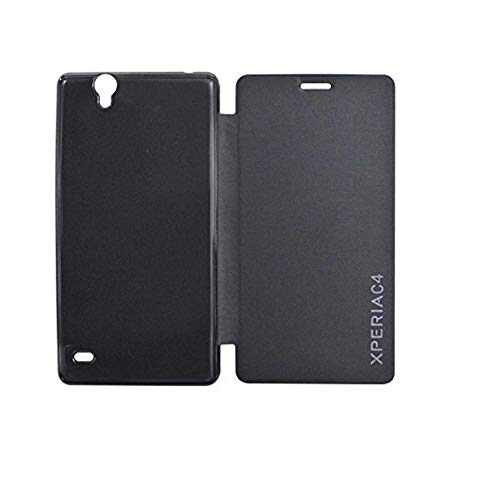 COVERBLACK Flip Cover for Sony Xperia C4   E5363   Black