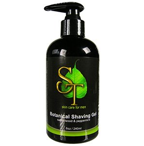 Botanical Shaving Gel, sandalwood & peppermint, 240 ml Sweetsation Therapy men's skin care