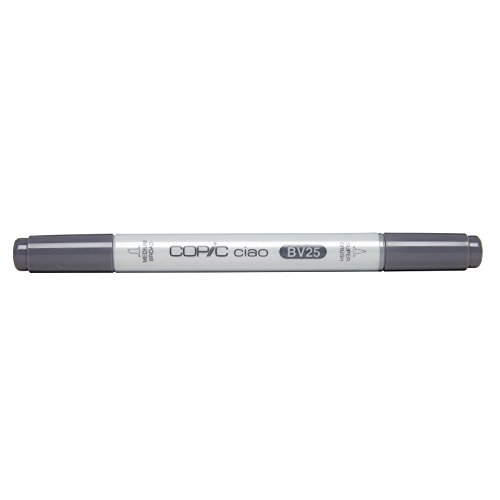 Copic Markers BV25 Ciao with Replaceable Nib, Grayish Violet - Bv25 Grayish Violet