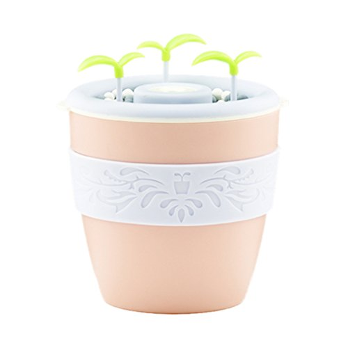 Blesiya USB Potted Essential Oil Diffuser Humidifier for Office Home Study Yoga Spa - Pink by Blesiya (Image #3)