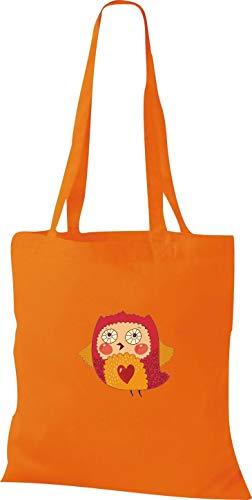 Tissu Orange Chouette Sac Motifs Avec Sucrer En Shirtstown q6FwEO