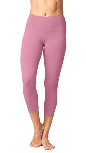 Soft Capris Pink - Yogalicious High Waist Ultra Soft Lightweight Capris - High Rise Yoga Pants - Pink Ocean - XS