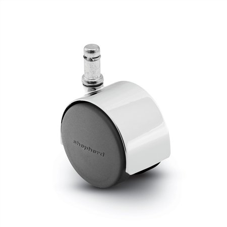 Die Cast Dual 50mm Nylon Wheel Caster, Chrome, with 3/8