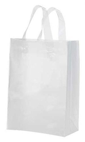 Amazon.com: 100 Clear Medium Frosted Plastic Shopping Bag - 8