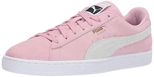 (PUMA Men's Suede Classic Sneaker, Pale Pink White, 8.5 M US)