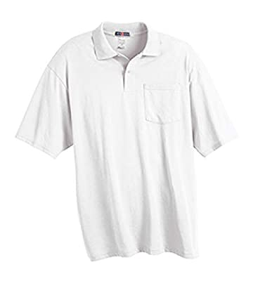 Jerzees Mens 50/50 Jersey Pocket Polo with SpotShield (436P)