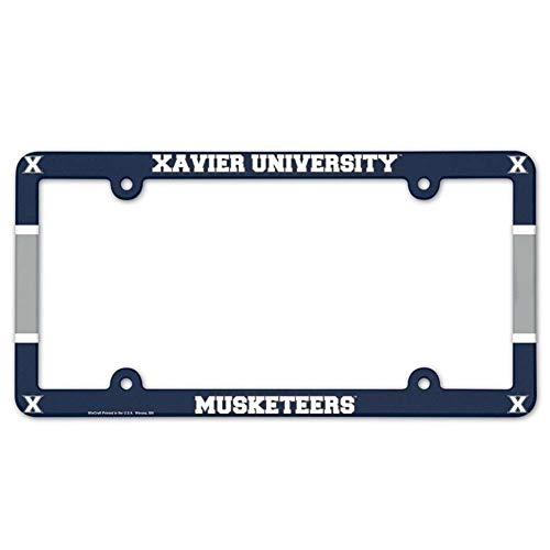 (Wincraft Xavier Musketeers Plastic License Plate Frame)