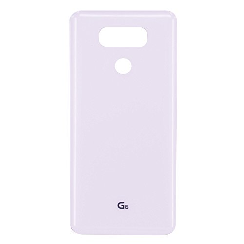 Dogxiong White Back Rear Housing Battery Genuine Glass Door Cover Case Replacement for LG G6 H870, LS993, H872, H871, VS988