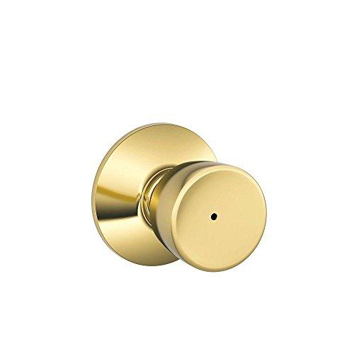 Schlage F40BEL605 Bell Privacy Knob, Bright (Bell Privacy Lockset)