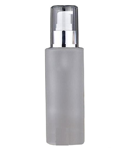 1PC Empty Glass Upscale Refillable Dispenser Cosmetic Pump L