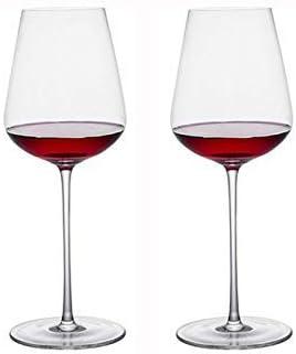 Copas de Vino Tinto, Juego de 2 Copas, Copa de Cristal Grande Hecha a Mano para champán y Guirnalda; para Vino, Boda, Aniversario, soirees, Fiesta, sin Plomo, 800 ml sin Marca: Amazon.es: