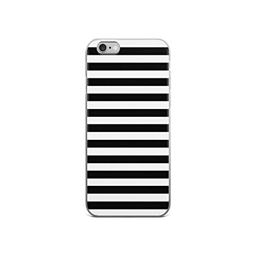 iPhone 6 Case iPhone 6s Case Clear Anti-Scratch Black White Stripe Bedspread Cover Phone Cases for iPhone 6/iPhone 6s, Crystal Clear
