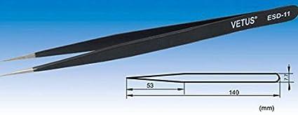Antistatische ESD Pinzetten 17 verschiedene Spitzen f/ür elektroempfindliche und kleine Bauteile von Kobert-Goods