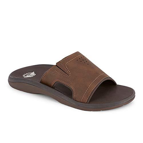 (Dockers Mens Landing Casual Slide Sandal Shoe, Dark Brown, 13)
