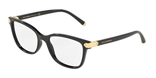 Dolce & Gabbana Eyeglasses D&G DG5036 DG/5036 501 Black/Gold Optical Frame 53mm