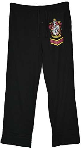 Harry Potter House Gryffindor Lounge Sleep Pants (Large, Black) (Harry Potter Shop)