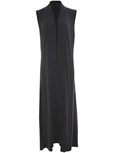 Miss Moody Fashion - Cárdigan - Sin mangas - para mujer gris oscuro