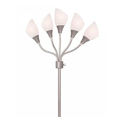 Light Accents Medusa Silver Floor Lamp with Acrylic Shades