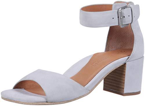 (Gentle Souls Kenneth Cole Women's Christa Mid-Heel Sandal Ankle Strap Sandal, Winter Blue, 9.5 M US)