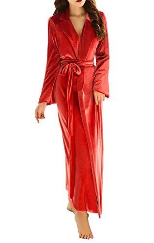 Mujer Albornoz Shinegown Rojo Albornoz Para Shinegown f7qWfnxO