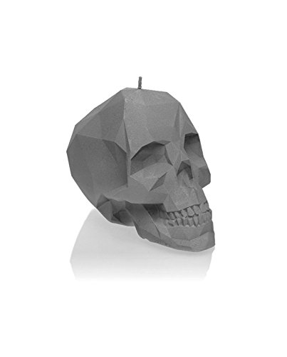 (Candellana Candles Candellana-Small Skull Candle, Gray Matt)