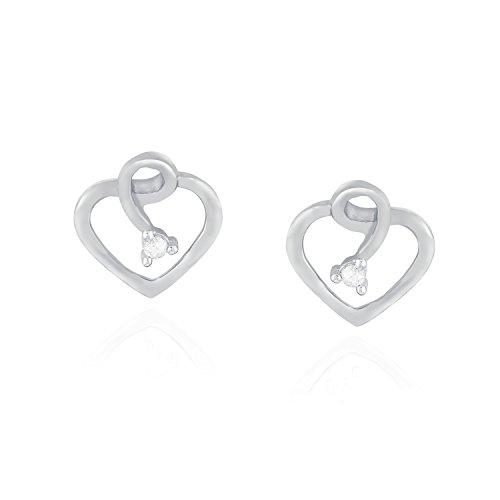 Giantti Diamant pour femme Boucles d'oreilles à tige (0,07ct, qualité HSI, Gh-colour)