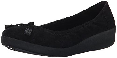 FF2 Por Fitflop Zapatos De Gamuza Bailarina F-pop Negro Negro