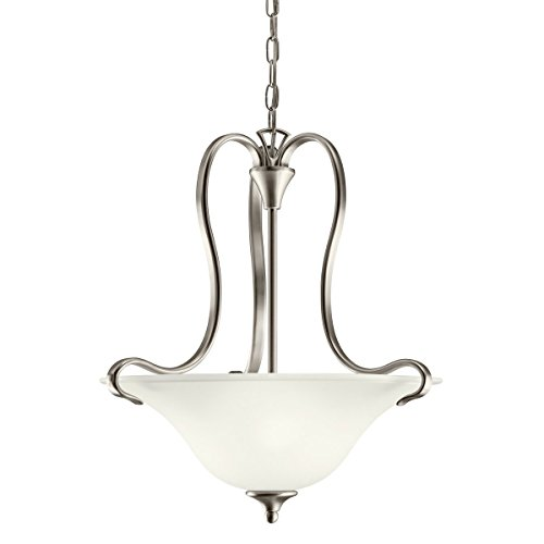 Kichler Wedgeport Inverted Pendant (Two Light Brushed Nickel Up Pendant 10742NI)