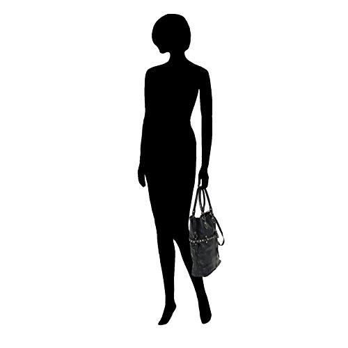 Campomaggi Borchie Con Fiore Shopper Leder 35 cm black