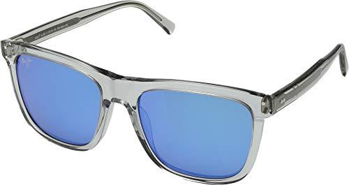 MauiJim Velzyland B802-11   Polarized Light Grey Crystal Classic Frame Sunglasses, with with Patented PolarizedPlus2 Lens Technology