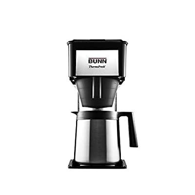 BUNN BT Velocity Brew 10-Cup Thermal Carafe Home Coffee Brewer, Black made by BUNN