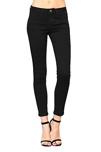 Vervet by Flying Monkey Jeans Black Ivy Mid Rise Super Stretch Skinny Jegging VT136, 24
