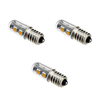 Bombillas, bombillas de inicio, 1W E14 Bombillas LED de Mazorca T 7 SMD 5050 100-120 lm Blanco Cálido 3000-3500 K V Bulbos: Amazon.es: Hogar