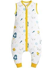 Fyzeg Baby Sleep Sack with Feet 0.5 Tog Baby Sleeveless Sleeping Bag with 2-Way Zipper 100% Cotton Unisex Toddler Wearable Blanket