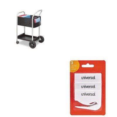 KITSAF5238BLUNV31803 - Value Kit - Safco Scoot Mail Cart (SAF5238BL) and Universal Letter Slitter Hand Letter Opener w/Concealed Blade (UNV31803) by Safco