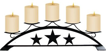 18.5 Inch Star Table Top Pillar Candle Holder (Candle Stand Star)