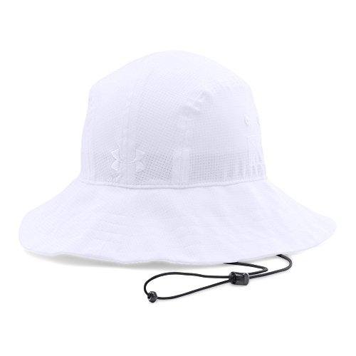(Under Armour Men's Warrior Bucket Hat, White (100)/Black, One Size)