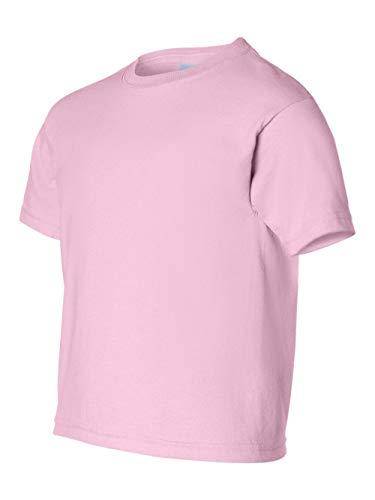 Gildan boys Ultra Cotton T-Shirt(G200B)-LIGHT PINK-S