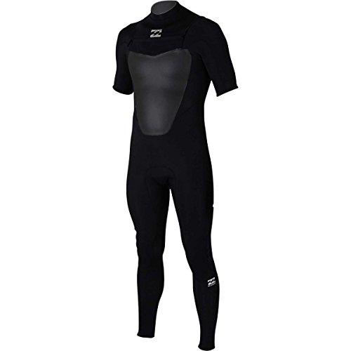 Large Tall Wetsuits - Billabong Men's Foil 2/2 Back Zip Short Sleeve Full Wetsuit, Black, Large/Tall