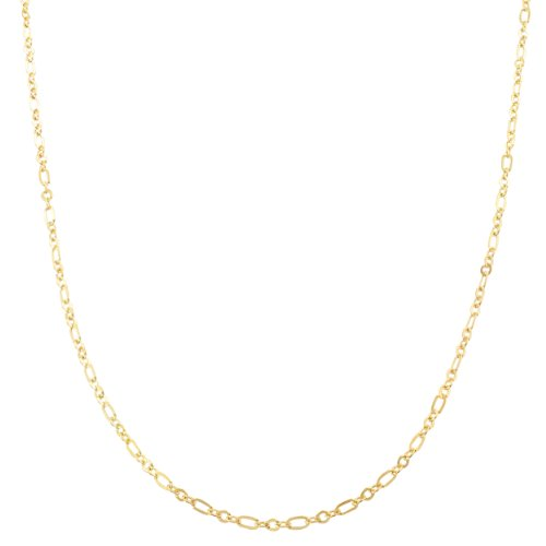 (Kooljewelry 10k Yellow Gold Flat Figaro Chain (1.7mm, 18 inch))